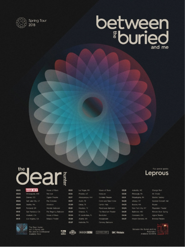 LEPROUS – North American Tour with Between The Buried And Me & The Dear Hunter