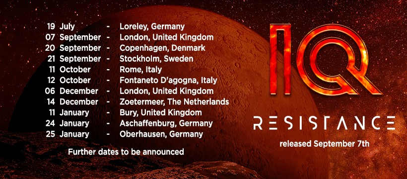 IQ proudly present their upcoming new album: RESISTANCE