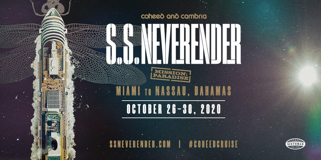 New Floating Music Festival SS Neverender Hosted by Coheed And Cambria  Departs October 2020