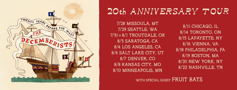 The Decemberists set sail on Twenty Years Before The Mast Tour