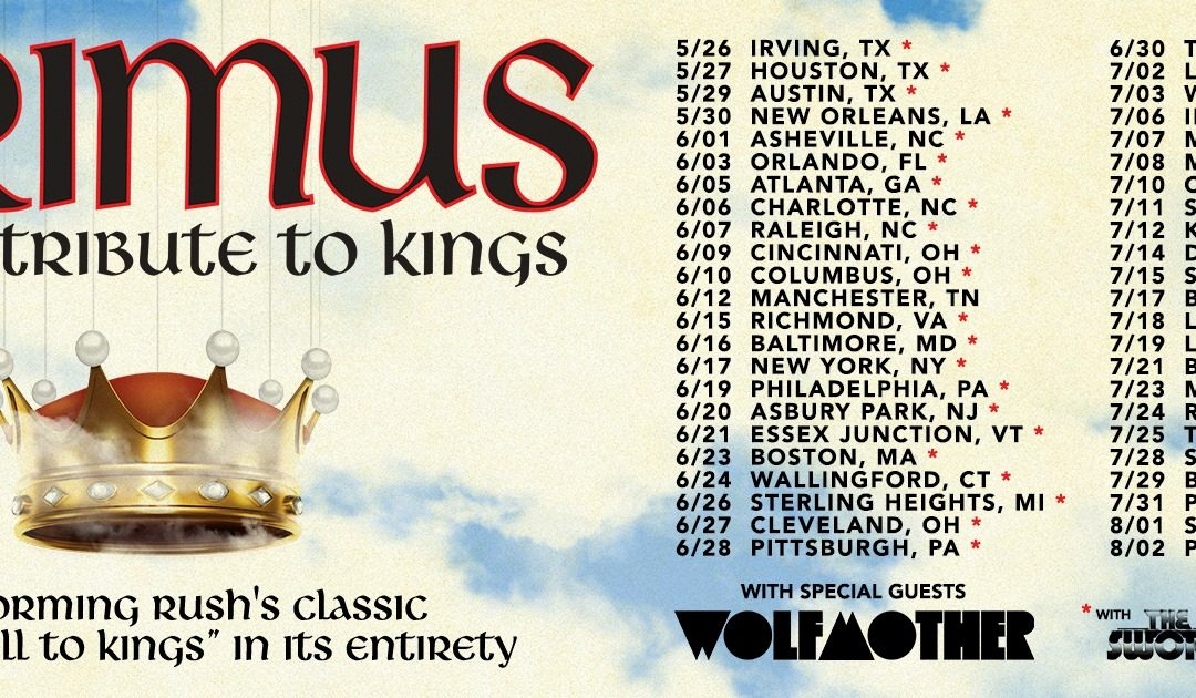 Primus will Pay Homage to  RUSH on Summer Tour