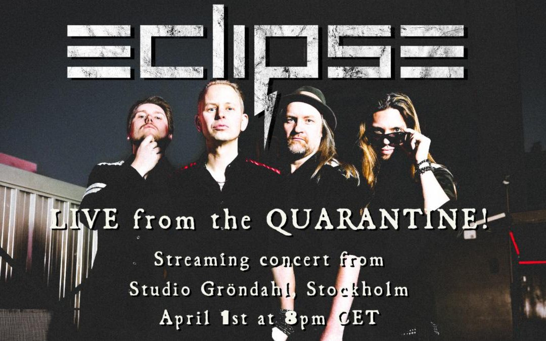 """Eclipse Announces Streaming Concert """"Live From The Quarantine"""" After Postponing World Tour Due to Covid -19 Outbreak"""